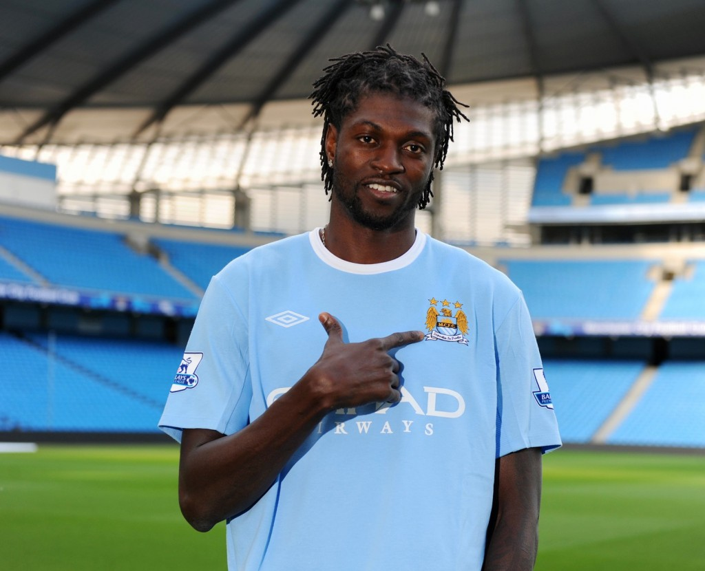 Soccer - Barclays Premier League - Manchester City Press Conference - Emmanuel Adebayor Signing